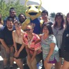 Students with Sammy the Slug